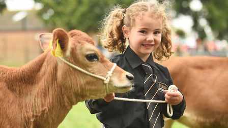 Young Handlers in the Livestock Arena at the Royal Norfolk Show. Pictured is Lucy Bolderston (5). Pi