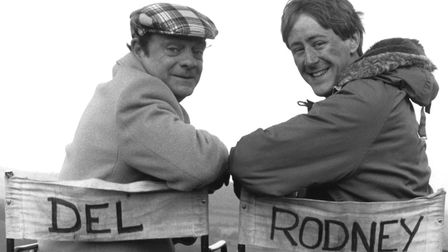 A photo from the set of Only Fools and Horses in 1986. It's one of the photos part of a 'BBC Faces o