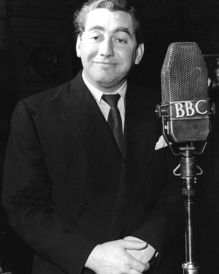 A photo of Tony Hancock from 1954. It's one of the photos part of a 'BBC Faces of Comedy' exhibition