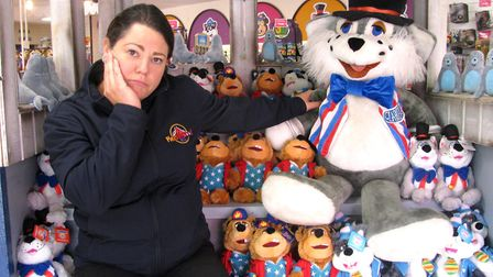 Kate Wood, of Pleasurewood Hills, with the remaining Clarence the Cat. Photo: Pleasurewood Hills.