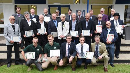 Long Servce award winners and Apprentice of the year winners at the Royal Norfolk Show 2017.Pictur