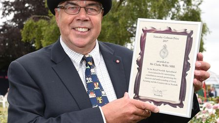 Clarke Willis MBE, winner of the Timothy Colman prize at the Royal Norfolk Show 2017.Picture: Nick