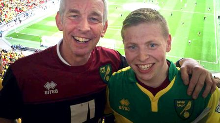 Barry Joy and his son Charlie. Picture: SUBMITTED FROM THE FAMILY OF BARRY JOY