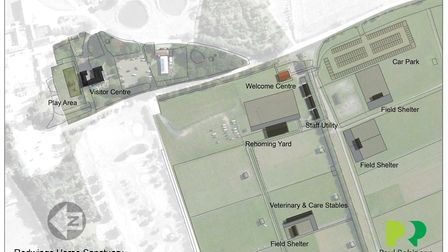 An overhead plan of developments proposed for Redwings in Caldecott. Picture: Paul Robinson Partners
