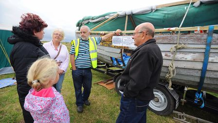 Fundraising day at Winterton Beach for the Edward Birkbeck lifeboat restoration and building of the