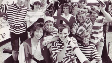 """Beccles young farmers were pirates for the day on the """"Pink Pig"""", dated August 7, 1989. Photo: Archa"""