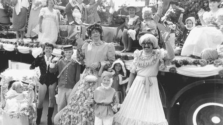 People on a float at Lowestoft Carnival entered by the Oulton Townswomen's Guild, pictured August