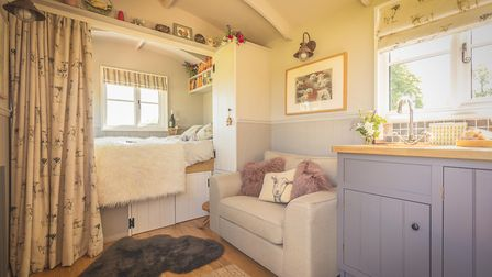 Shepherd huts are increasing in popularity as holiday accommodation. Picture: The English Shepherds