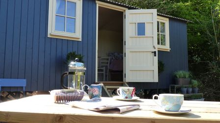 Shepherd huts are increasing in popularity as holiday accommodation. Picture: Hut-next-the-Sea