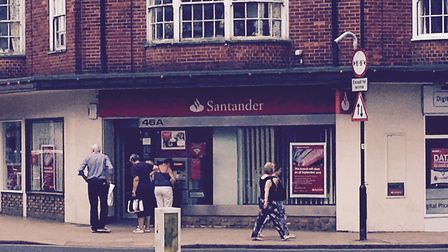 The Santander branch in Church Street, Cromer is closing in September. Picture: David Bale
