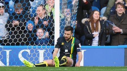 The bad times - Russell Martin cuts a dejected figure during City's 5-1 defeat to Sheffield Wednesda