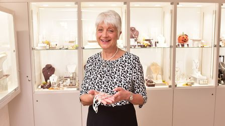 Retired GP Renee Kathuria at her jewellery shop, Oliver & J, in Beccles. Picture: Nick Butcher