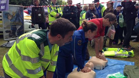 CPR lessons at the Royal Norfolk Show. Photo: EEAST