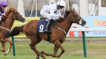 Chunkyfunkymonkey wins the 3.10pm at Yarmouth. Picture: Roger Harris