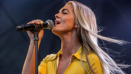 X-Factor Star Louisa Johnson supports Olly Murs at Thetford High Lodge. Photo: Lee Blanchflower