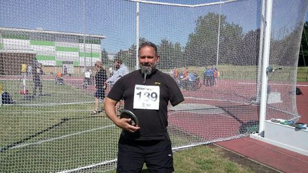 Olaf Jones taking part in a competition. Photo: Olaf Jones