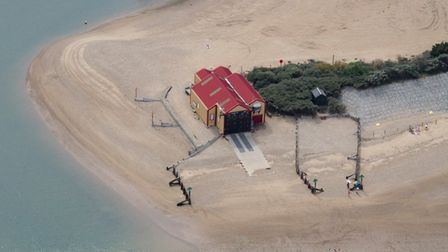 An aerial view of Wells lifeboat station. Picture: John Fielding