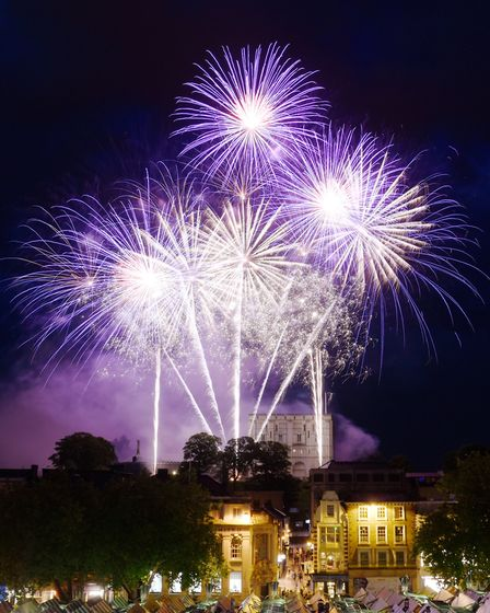Fireworks on Saturday evening for the Lord Mayor's Celebrations in Norwich. Photo:: Steve Adams