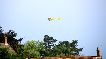 Air ambulance arriving in Sheringham. Picture: JO JOHNS