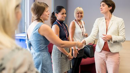 Norwich North MP Chloe Smith has visited Norfolk and Suffolk NHS Foundation Trust (NSFT) to present