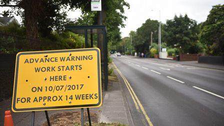 Ongoing roadworks on Newmarket Road. Picture: ANTONY KELLY