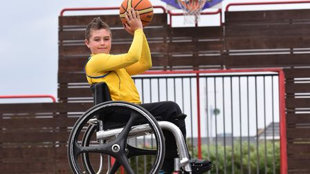 Daniel-Jai Holehouse needs a new wheelchair to help him compete at a higher level in basketball.Pic