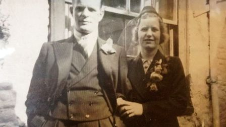 John Howes with his beloved wife Irene, who he married after meeting on Yarmouth seafront.
