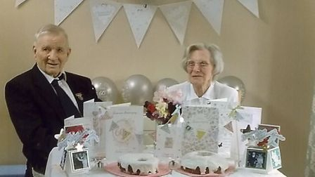 Jim and Berice Bowles celebrating their diamond anniversary in August 2016. Picture: Courtesy the Ji