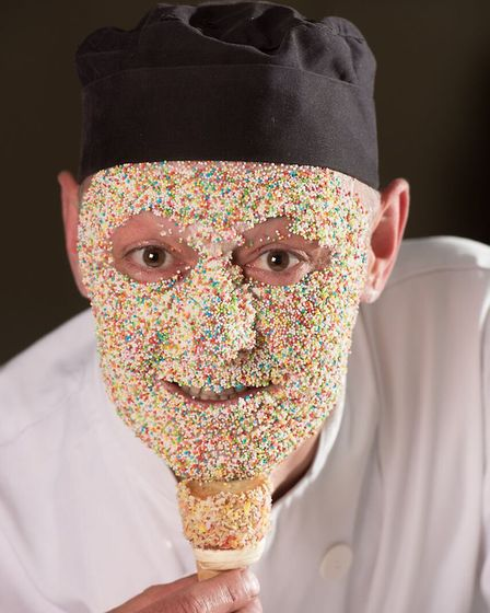 Mark Mitson, pastry chef at The Assembly House in Norwich who has designed the Rainbow Unicorn After