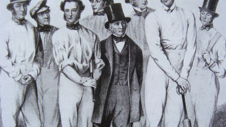 Best of the bunch: a detail from Nathaniel Felix's picture of members of William Clarke's 'All Engla