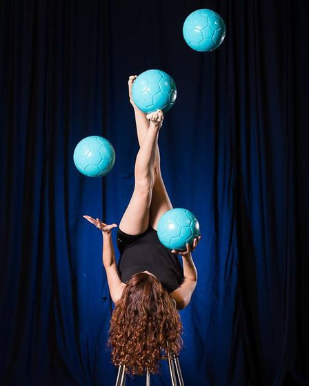 Circa en Breve will performa number of street shows including footjuggling. Picture: Valeria Antipod