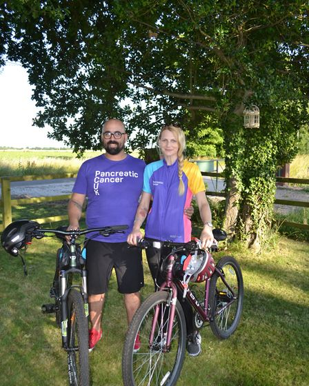 Mr and Mrs Potter will be cycling 99 miles of the Norfolk coastline in honour of her Grandmother, S