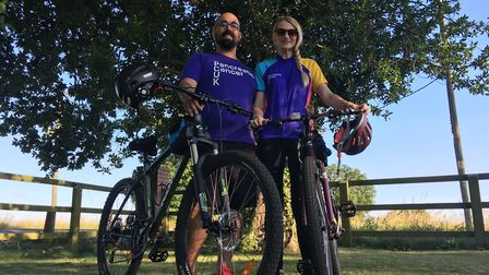 Mr and Mrs Potter will be cycling 99 miles of the Norfolk coastline to raise money for Pancreatic Ca