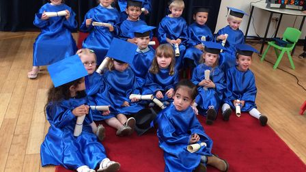 Jelly Tots Nursery's Class of 2017. Three and four-year-olds have graduated from the Thetford-based