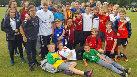 NWHS students take part in the 'Wear your football shirt to school' day. Picture: Suzie Sharp