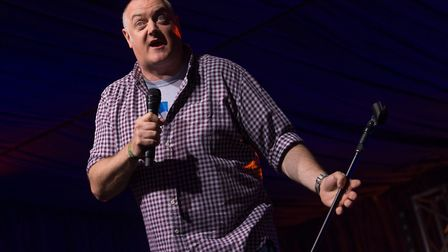 The comedy tent was at full capacity for Dara O'Briain. Picture: PAUL JOHN BAYFIELD