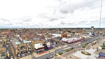 A new 'Slingshot' ride opens along Yarmouth seafront.Picture: Nick Butcher