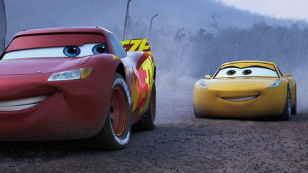 Lightning McQueen (voiced by Owen Wilson) and Cruz Ramirez (Cristela Alonzo) in Cars 3. Picture: Dis