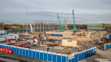 This image shows the Maintenance and Finishing Facility construction at RAF Marham. Picture: SAC Edw