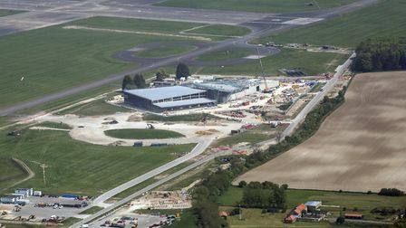 This image shows the Integrated Training Centre construction at RAF Marham. Picture: CPL ASHLEY KEAT