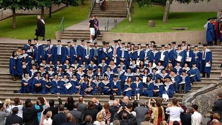 The first Norwich Medical School graduates in 2007. Picture: UEA