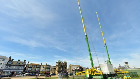 A new Slingshot ride has been installed on Yarmouth seafront.Picture: Nick Butcher