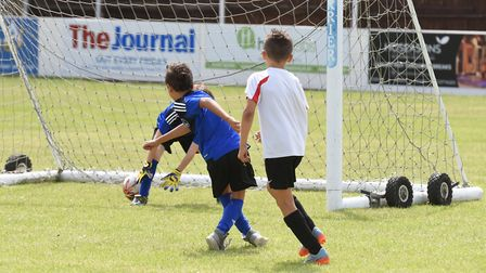 Lowestoft Town Football Club host a schools football tournament.Picture: Nick Butcher