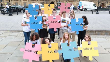 Schoolchildren took the message of the campaign to the heart of government through a Parliament Acti