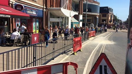 The new railings have been installed along Regent Road, Picture: Anthony Carroll