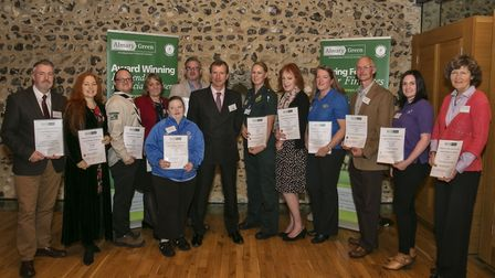 Almary Green Charity Award winners from 2016. Picture: Dave Richardson