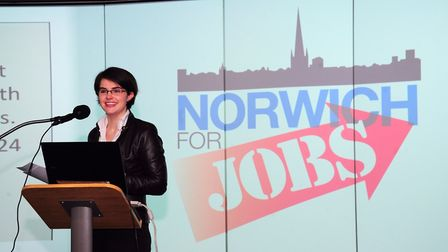 Chloe Smith at a previous Norwich For Jobs event. The campaign is now looking to recruit businesses