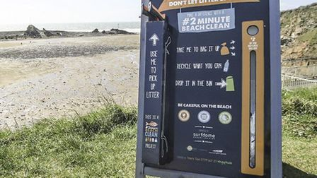 One of the beach clean-up boards. Picture: Lottie Willams