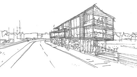 An artist's impression of how the new restaurant at Beach Road, Wells, could look. Picture: North No