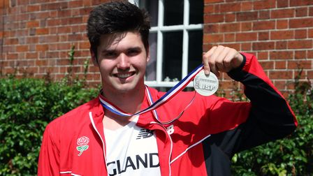 Student Oliver Massingham helped his team win a silver medal at the ISF World Schools Athletics Cham